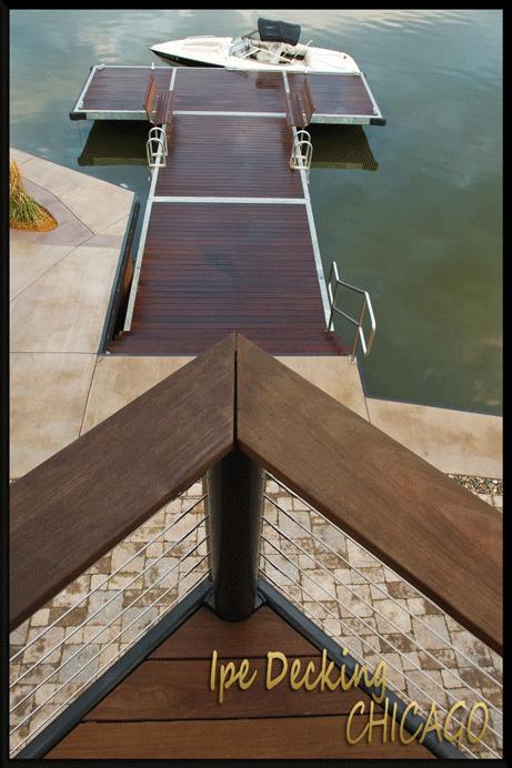 Chicago Ipe Deck Overlooking an Ipe Dock